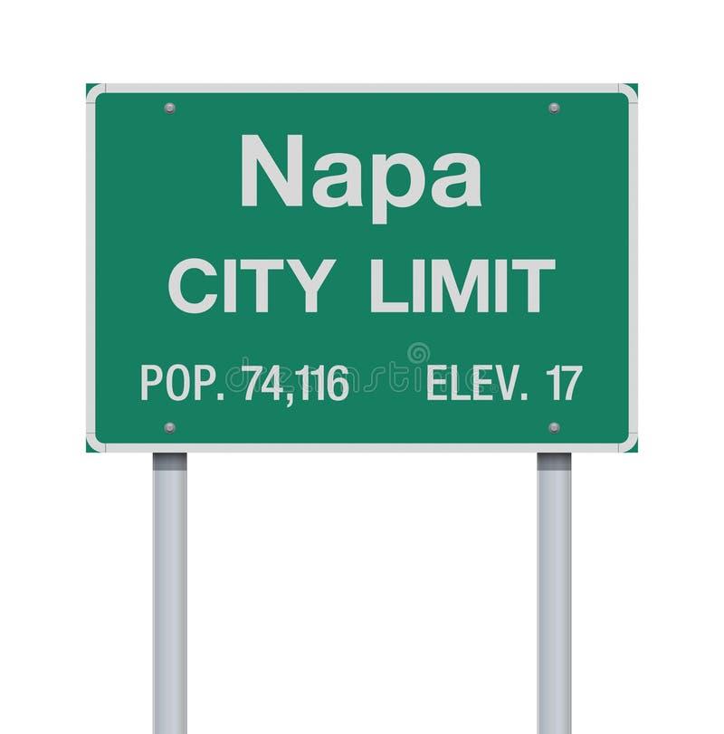 Sinal de estrada do limite de cidade de Napa ilustração do vetor