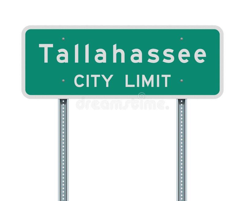Sinal de estrada do limite de cidade de Tallahassee ilustração royalty free