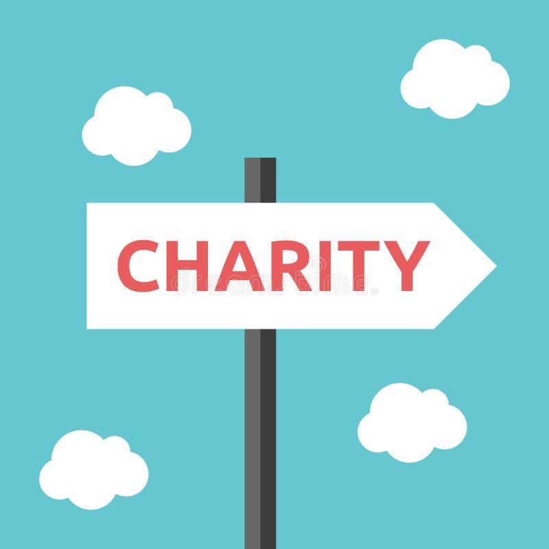 Sinal de estrada do sentido da caridade ilustração royalty free