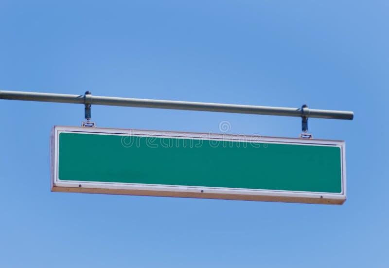 Sinal de estrada em branco imagem de stock