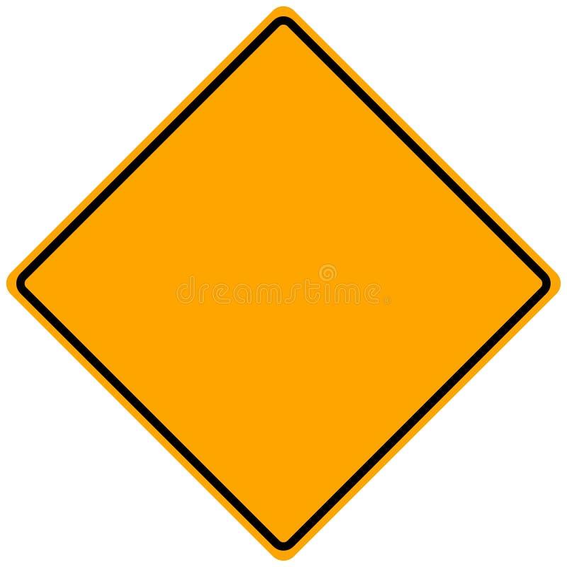 Sinal de estrada em branco ilustração royalty free
