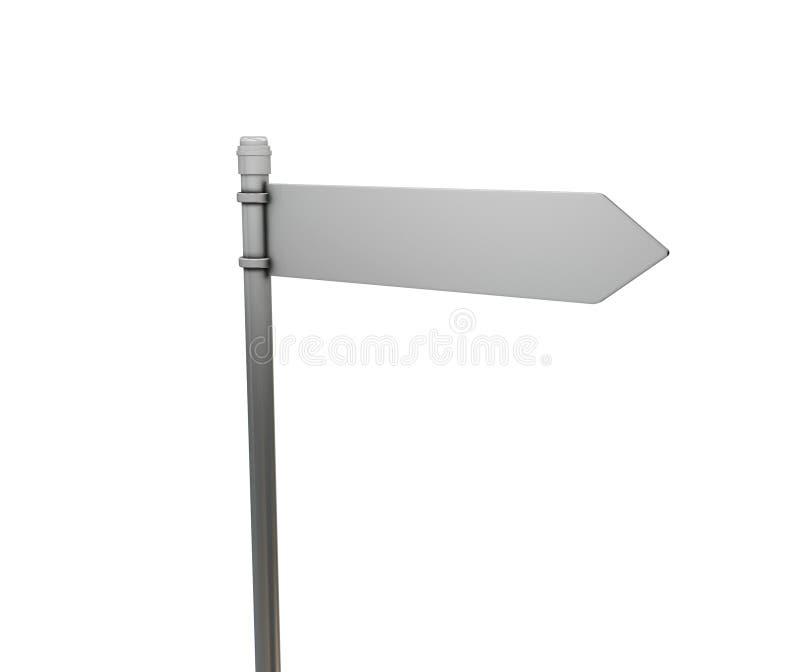 Sinal de estrada em branco ilustração stock