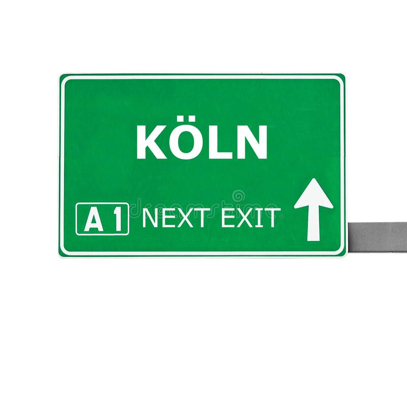 Sinal de estrada de KOLN isolado no branco imagem de stock royalty free