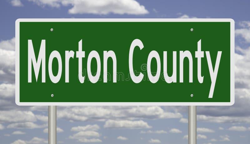 Sinal de estrada para Morton County imagens de stock royalty free