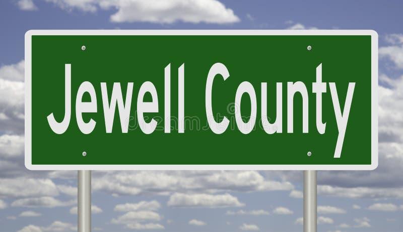 Sinal de estrada para o condado de Jewell imagens de stock royalty free