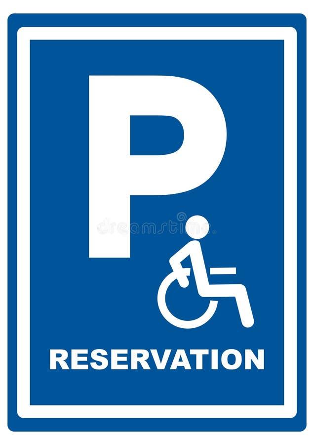 Sinal de estrada para o estacionamento do automóvel de passageiros, lugar reservado, eps ilustração do vetor