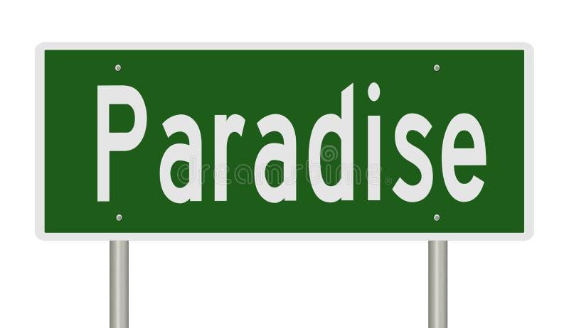 Sinal de estrada para Paradise Nevada ilustração do vetor