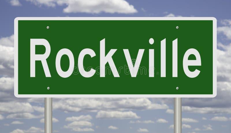 Sinal de estrada para Rockville foto de stock royalty free