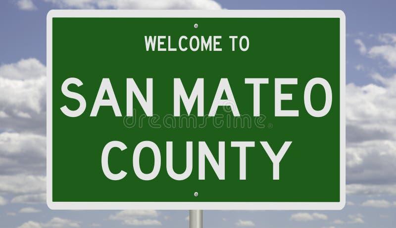 Sinal de estrada para San Mateo County fotografia de stock