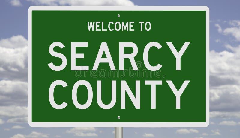 Sinal de estrada para Searcy County fotos de stock royalty free