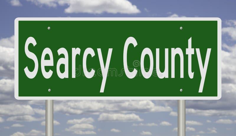 Sinal de estrada para Searcy County imagens de stock