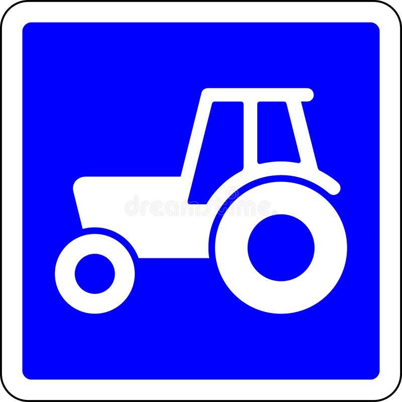Sinal de estrada permitido trator ilustração stock