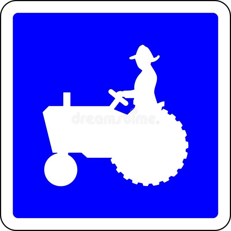 Sinal de estrada permitido trator ilustração do vetor