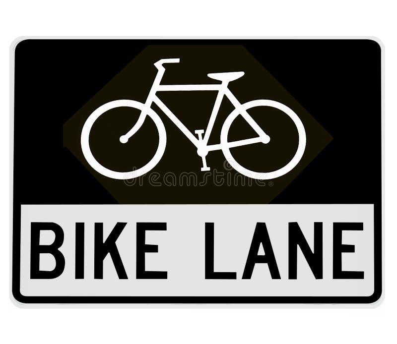 Sinal de estrada - pista da bicicleta ilustração do vetor