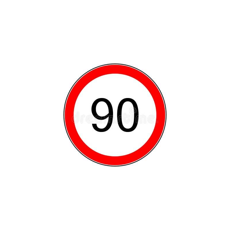 Sinal de estrada prescrito da velocidade mínima ilustração stock