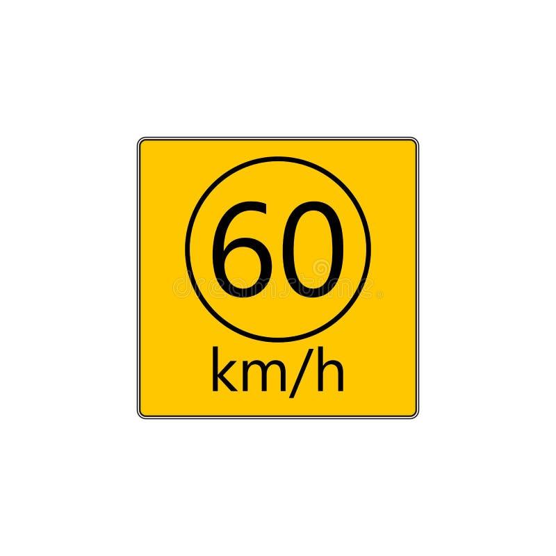Sinal de estrada prescrito da velocidade mínima ilustração royalty free