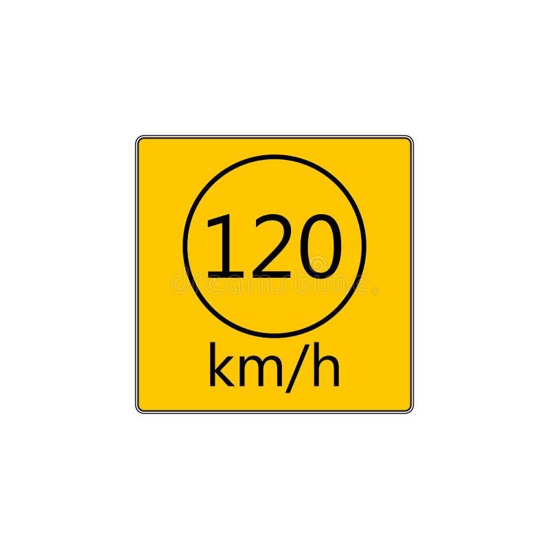 Sinal de estrada prescrito da velocidade mínima ilustração do vetor