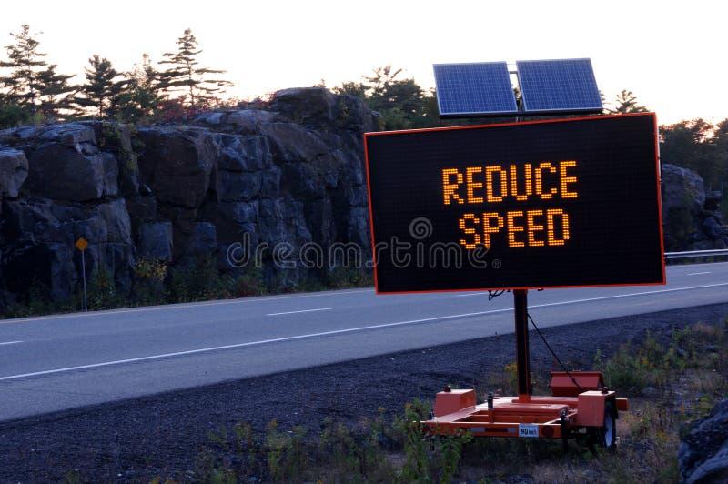 Sinal de estrada solar imagem de stock royalty free