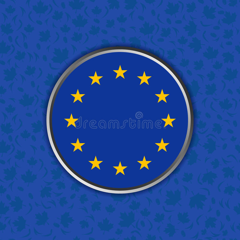 Sinal de Europa em um fundo azul fotografia de stock royalty free