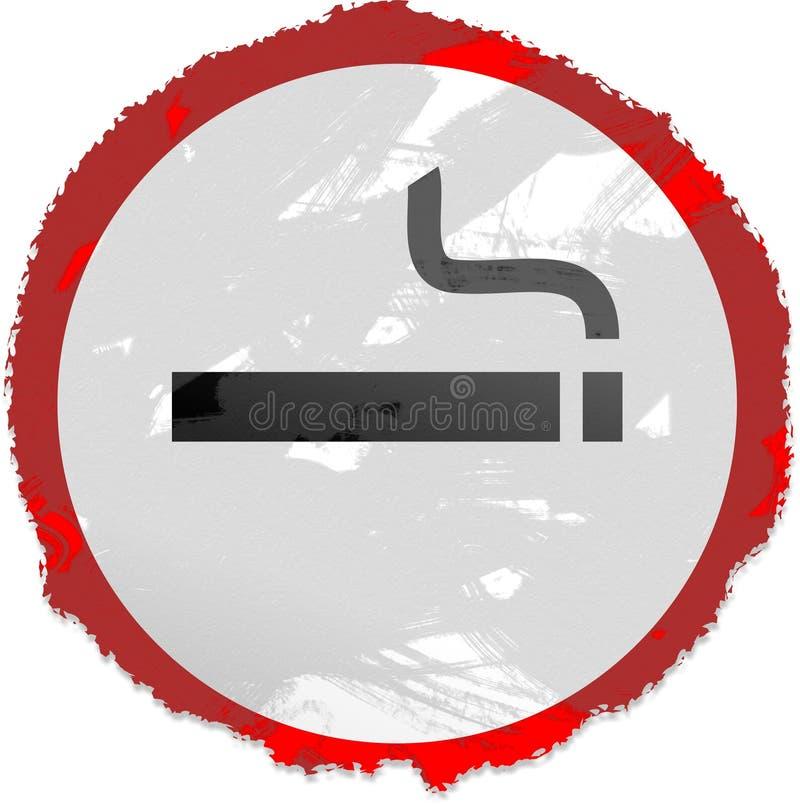 Sinal de fumo de Grunge ilustração royalty free