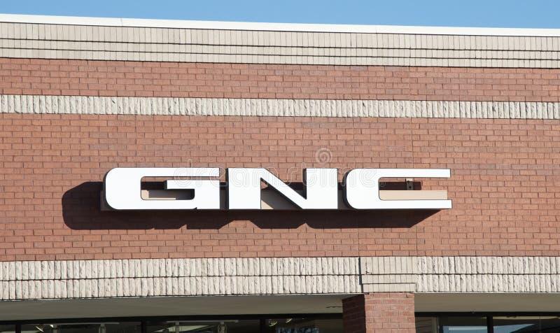 Sinal de GNC, Bartlett Tennessee foto de stock royalty free