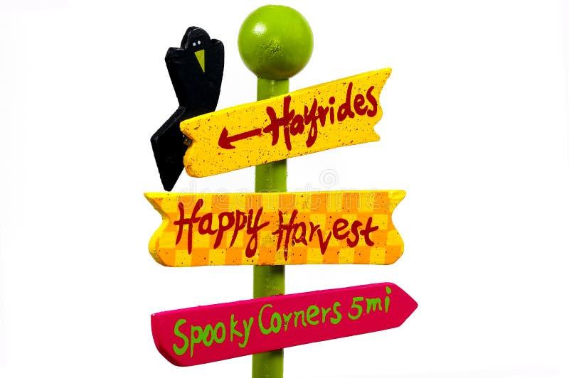 Sinal de Halloween imagem de stock royalty free