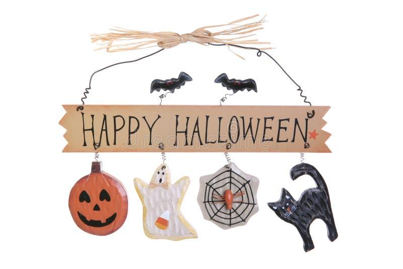 Sinal de Halloween fotos de stock royalty free