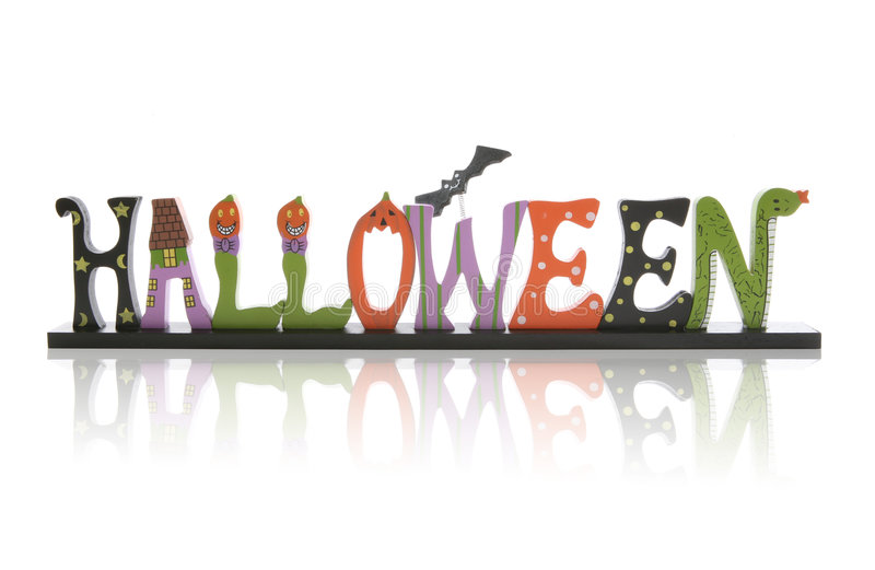 Sinal de Halloween foto de stock royalty free