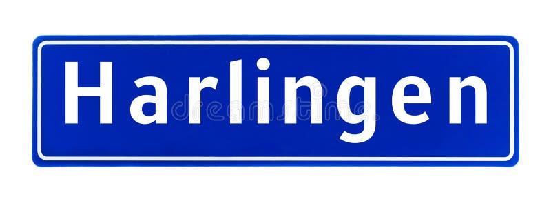 Sinal de Harlingen, os Países Baixos do limite de cidade imagem de stock royalty free