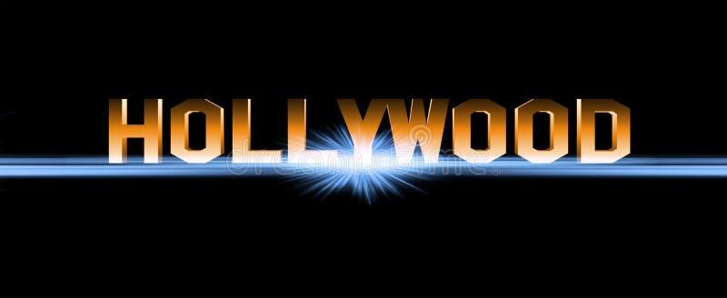 Sinal de Hollywood ilustração royalty free