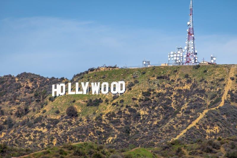 Sinal de Hollywood - Los Angeles, Califórnia, EUA foto de stock