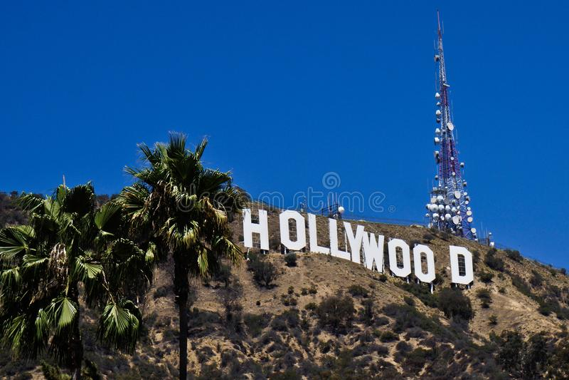 Sinal de Hollywood no monte de hollywood imagem de stock
