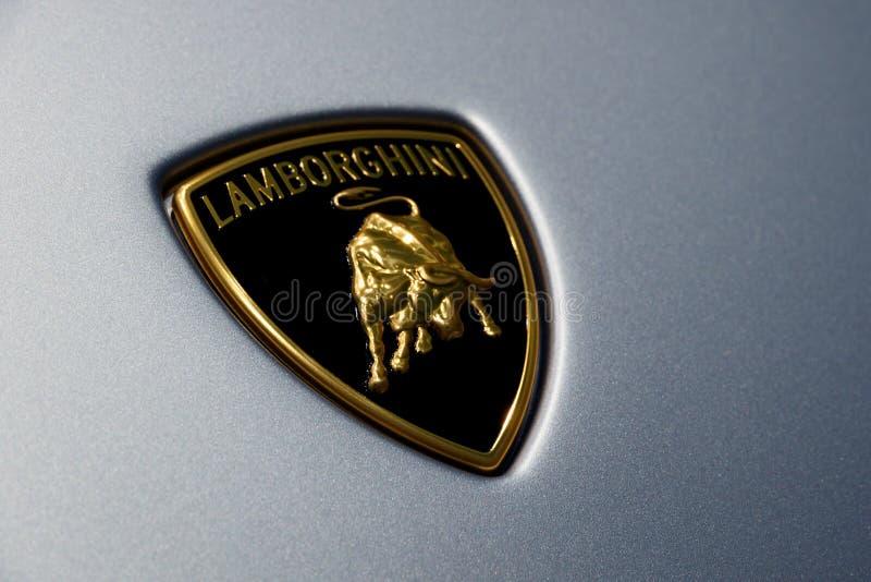 Sinal de Lamborghini foto de stock royalty free