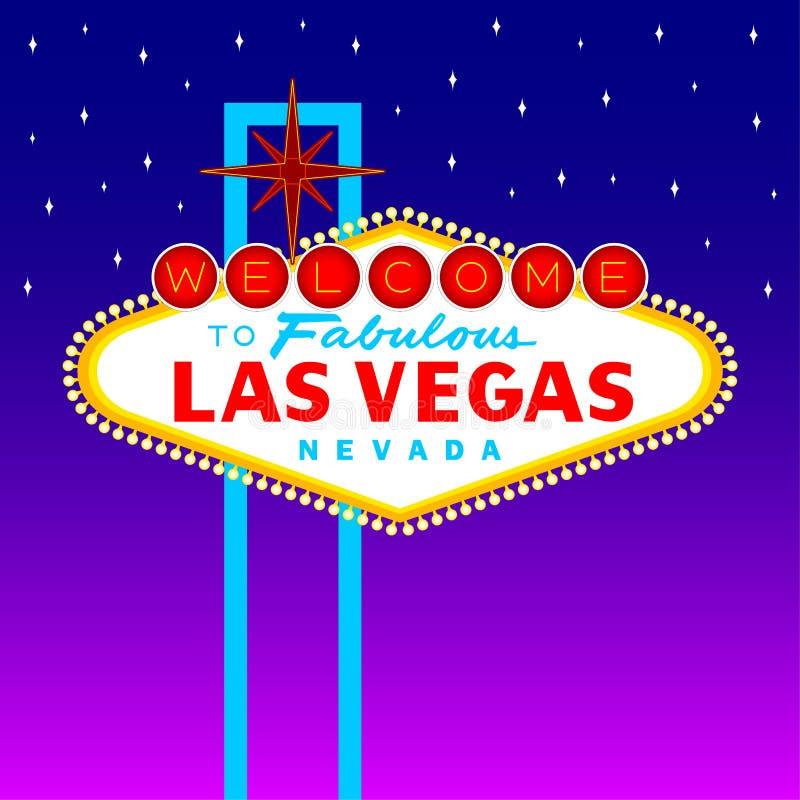Sinal de Las Vegas ilustração do vetor