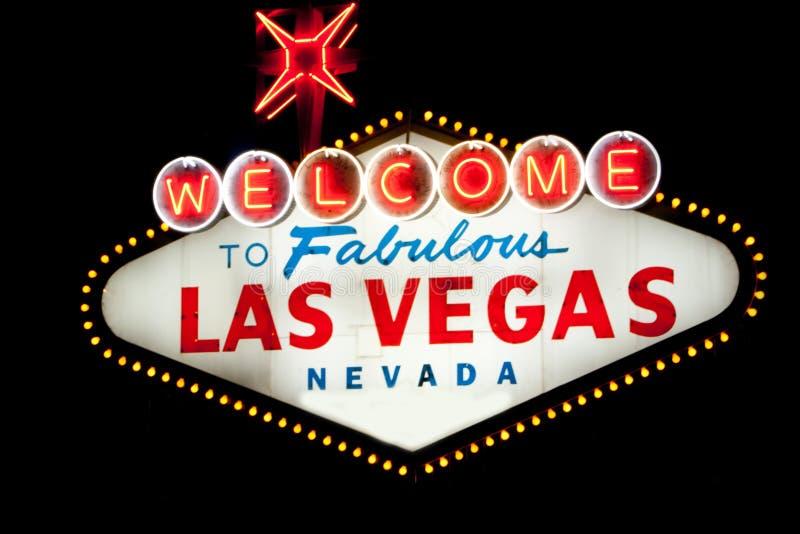 Sinal de Las Vegas na noite foto de stock royalty free