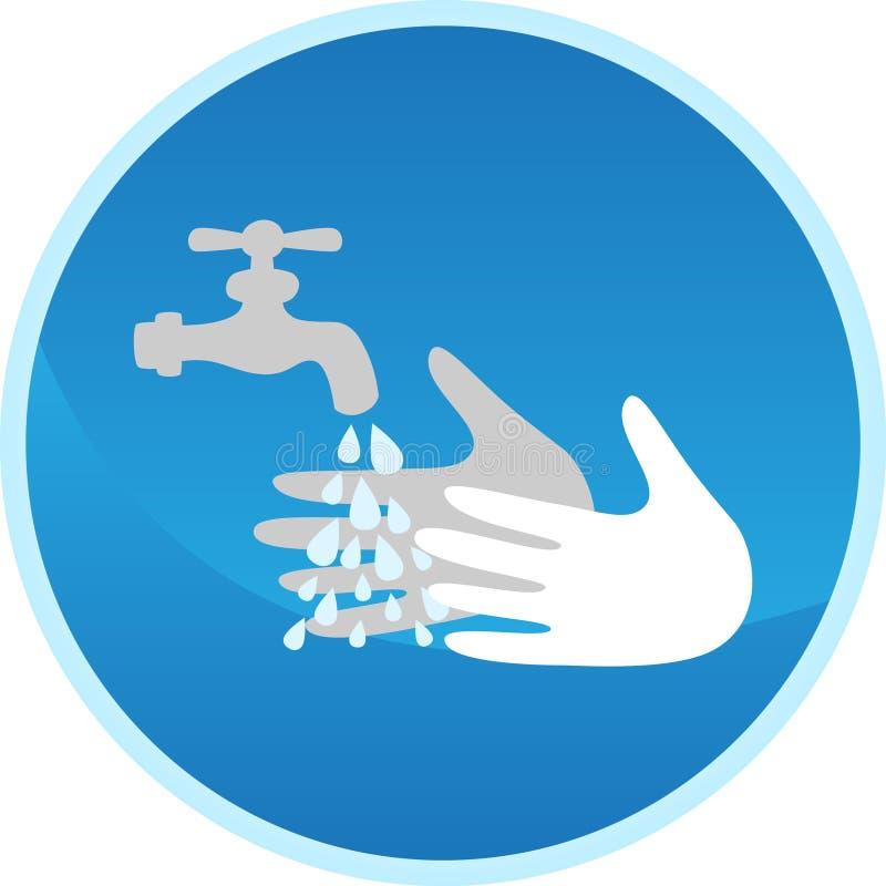 Sinal de lavagem da mão ilustração royalty free