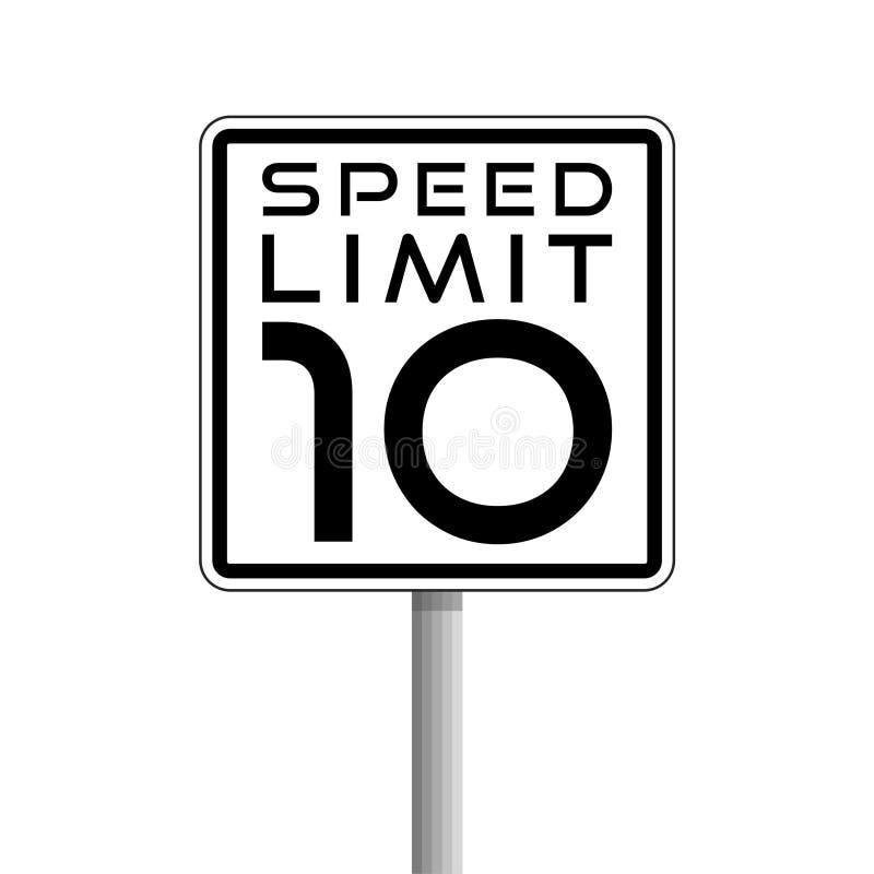 Sinal de limite, de estrada de velocidade, logotipo simples do vetor ou ícone ilustração stock