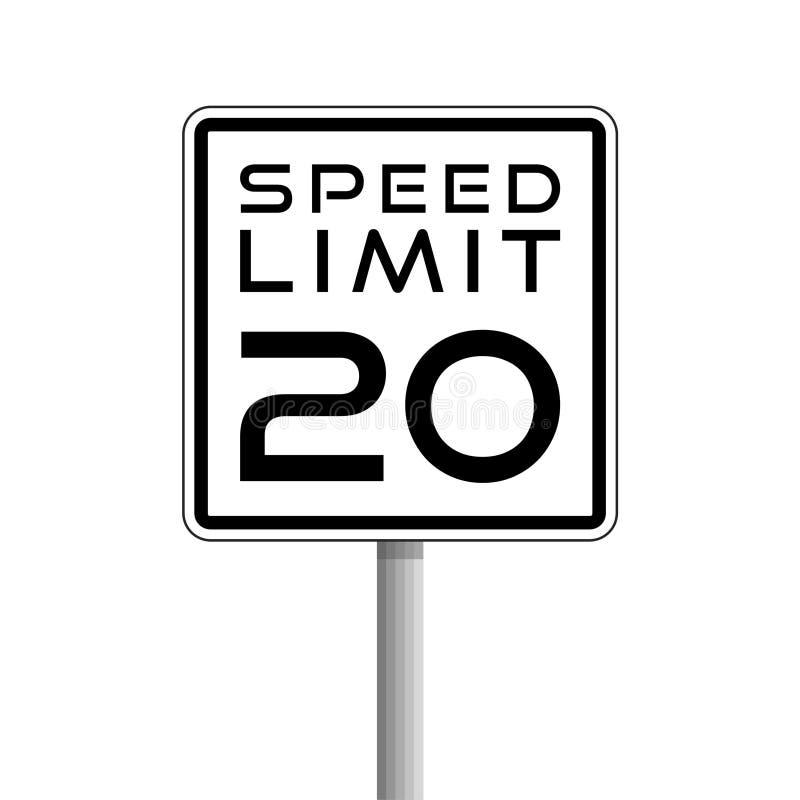Sinal de limite, de estrada de velocidade, logotipo simples do vetor ou ícone ilustração royalty free