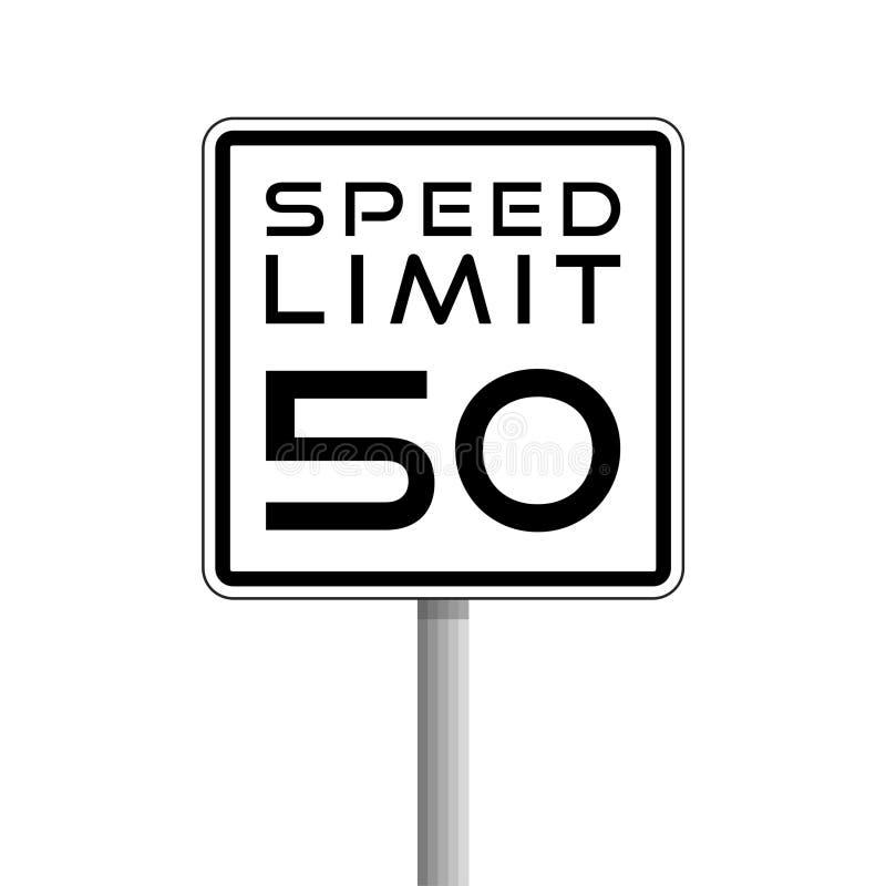Sinal de limite, de estrada de velocidade, logotipo simples do vetor ou ícone ilustração do vetor