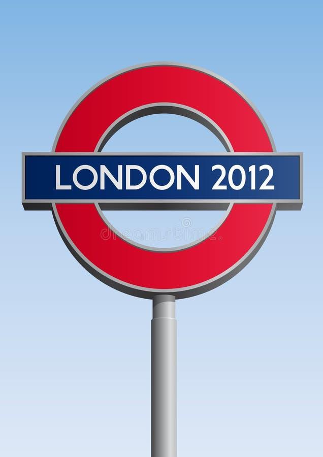 Sinal de Londres 2012 ilustração do vetor