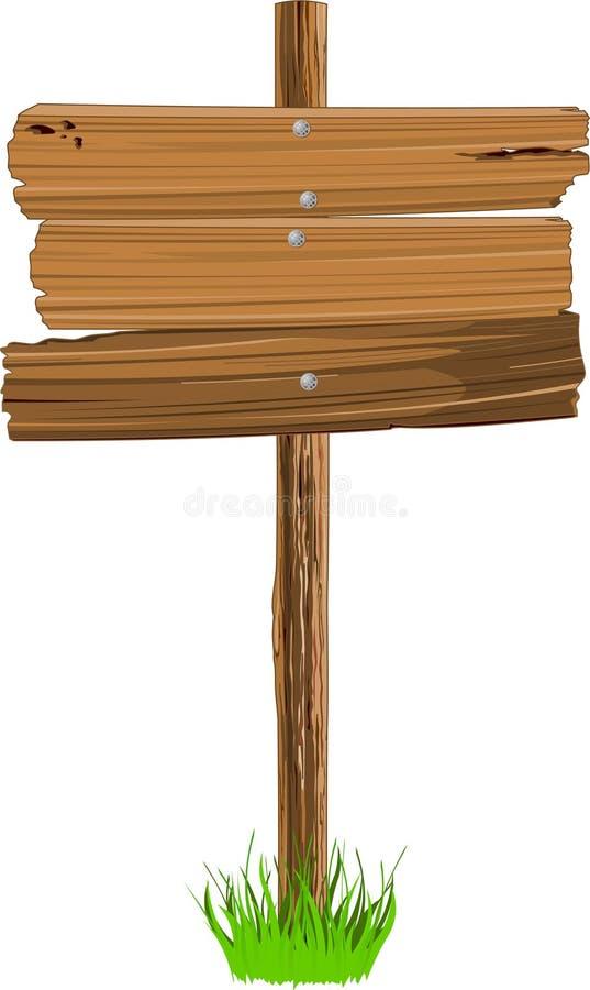Sinal de madeira ilustração stock