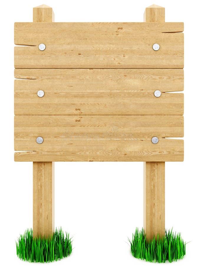 Sinal de madeira ilustração do vetor