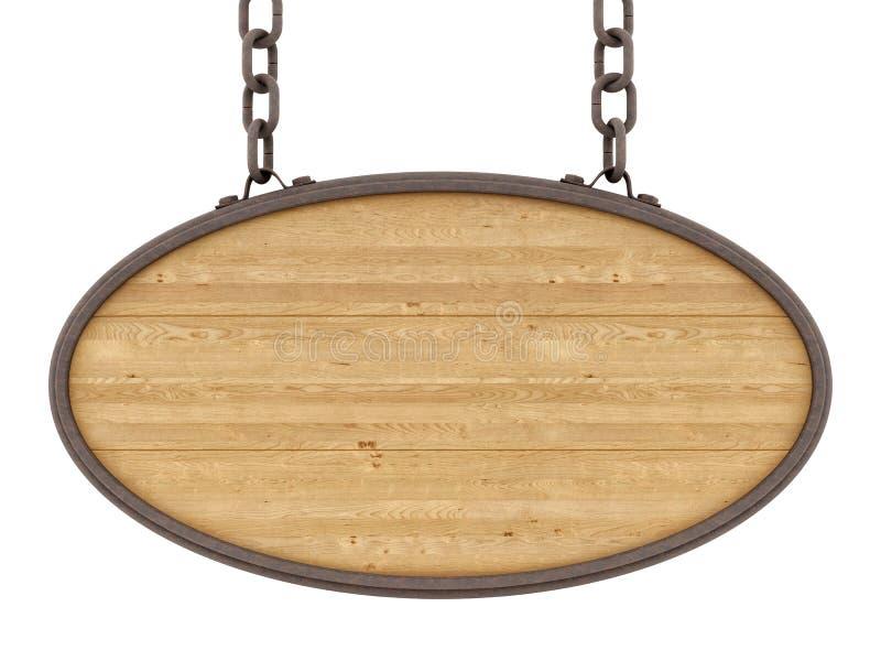Sinal de madeira ilustração royalty free