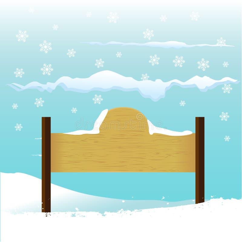 Sinal de madeira com mensagem ilustração stock
