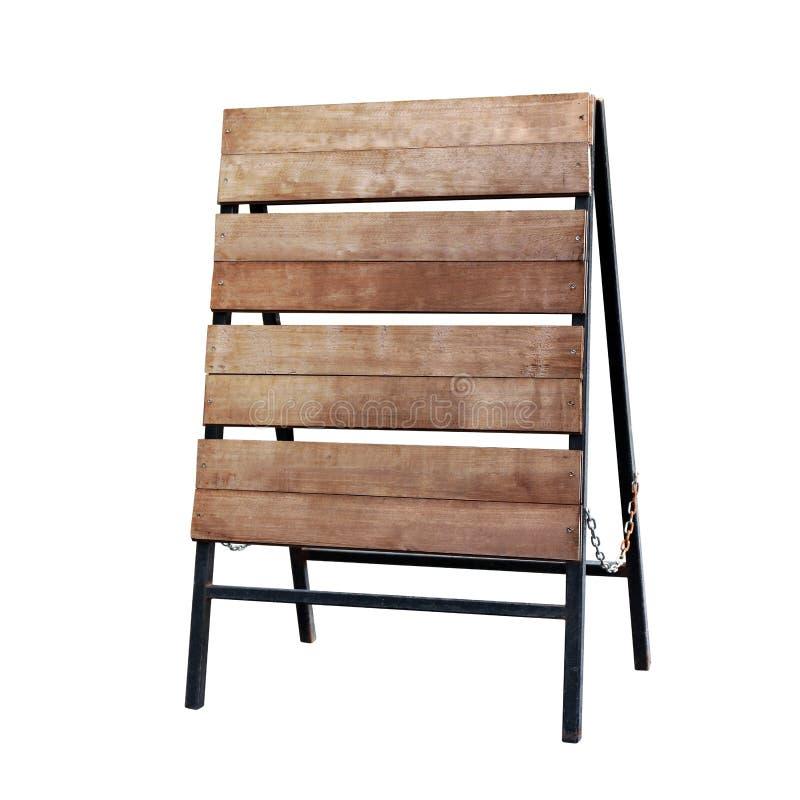 Sinal de madeira da vara, placa de madeira do sinal de Brown que pavimenta a placa vazia para a decoração da loja da mensagem de  imagens de stock