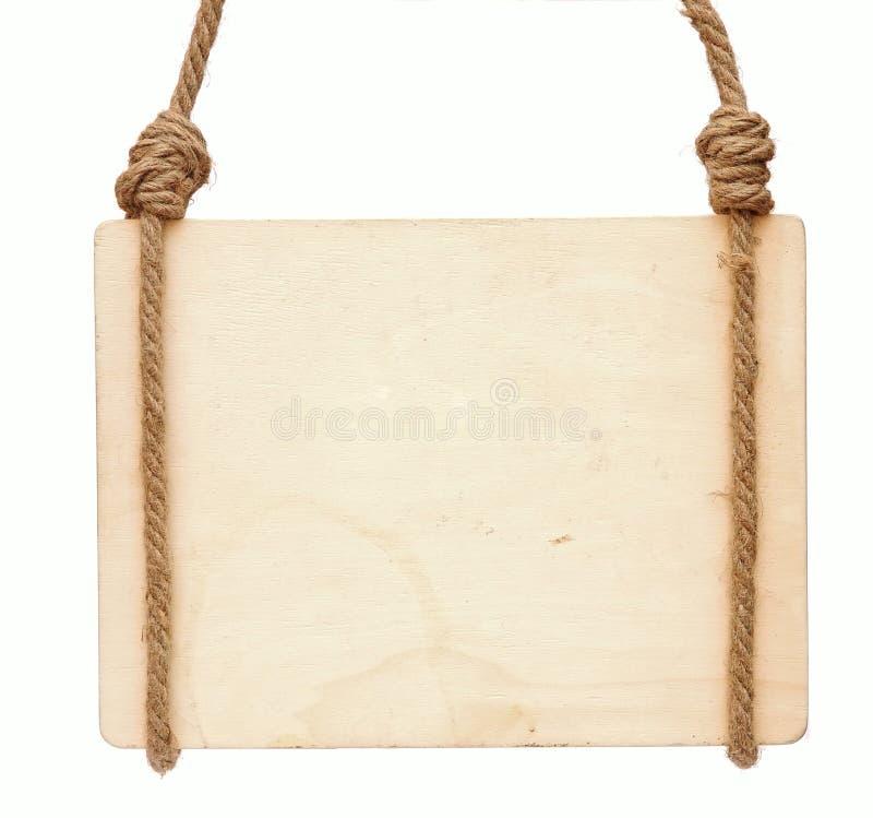 Sinal de madeira em branco imagem de stock