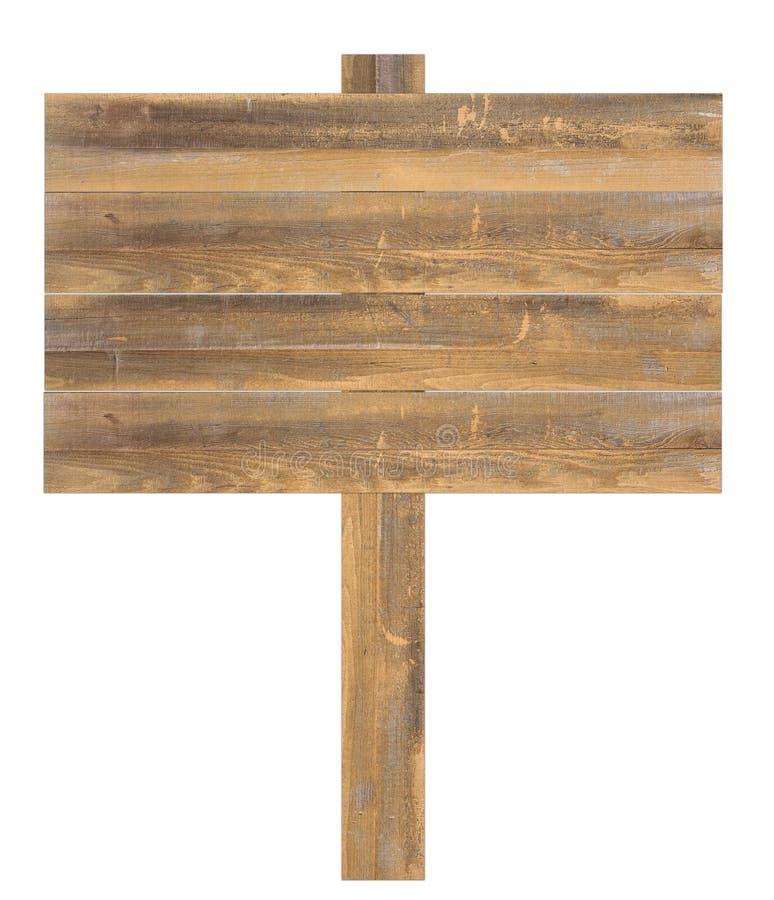 Sinal de madeira isolado imagens de stock royalty free