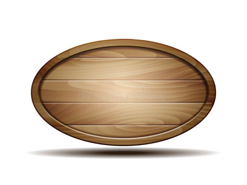 Sinal de madeira realístico ilustração do vetor