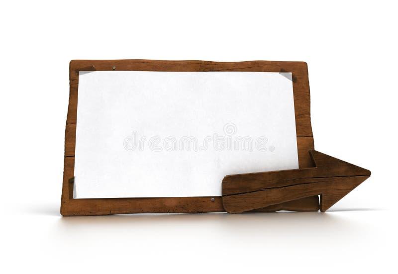 Sinal de madeira, uma comunicação verde ilustração do vetor