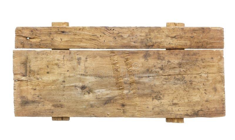 Sinal de madeira vazio fotografia de stock